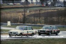 TRIUMPH DOLOMITE SPRINT (Peter Lovett)Leads BMW (Rouse).Photo. Oulton RAC Saloons March 1978